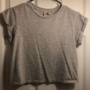 ASOS Gray Short sleeve crop top
